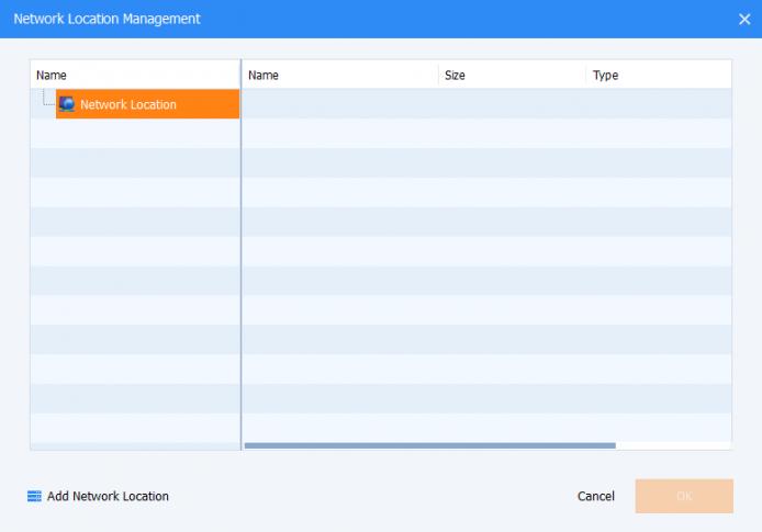 Aomei backup destination screenshot